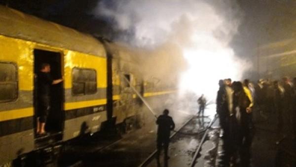 مصر: اندلاع حريق في قطار متجه من القاهرة إلى أسوان