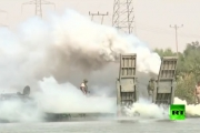 جسر روسي قرب دير الزور لنقل قوات النظام