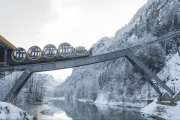 سويسرا تطلق أعلى قطار معلق في العالم