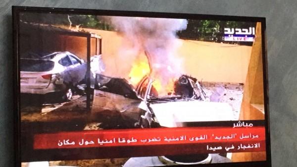 معلومات متضاربة عن إصابة بليغة لأبو حمزة حمدان من القوى الإسلامية الفلسطينية في انفجار سيارته المفخخة في صيدا