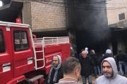 بالصور ... السيطرة على حريق في عرمون صباح اليوم