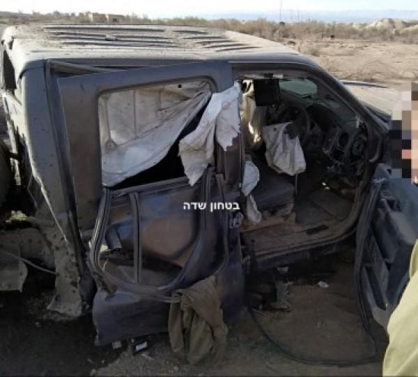 انفجار في جيب عسكري اسرائيلي قرب أريحا