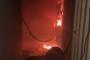 بالفيديو.. حريق في احد أبنية صور!
