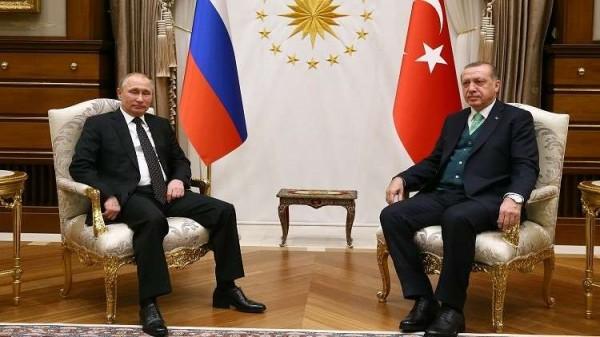 الرئاسة التركية: أردوغان بحث مع بوتين التطورات الأخيرة في فلسطين
