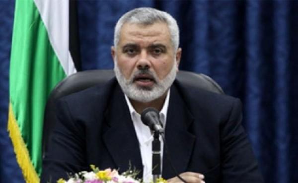 هنية يدعو لتشكيل 'جبهة عربية إسلامية' لحماية فلسطين