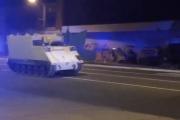 بالفيديو ...  الشرطة الأميركية تطارد 'دبابة' مسروقة في شوارع فيرجينيا