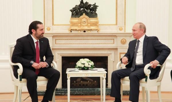 بوتين يطالب الحريري باطلاق مسار ترسيم الحدود شرقا