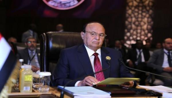 الرئيس اليمني عبد ربه منصور هادي يصل العاصمة المؤقتة عدن بعد نحو عام ونصف من مغادرتها