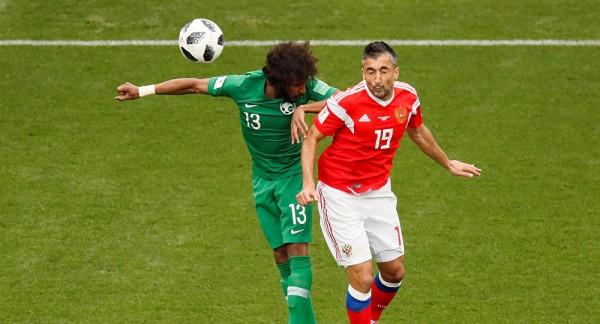 منتخب روسيا يحرز الهدف الأول