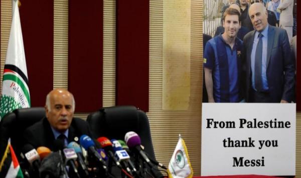 ميسي يتسبب بمعاقبة رئيس الاتحاد الفلسطيني