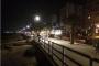 الرياح القوية ليلا تسببت باقتلاع عدد من الخيم عند كورنيش صيدا