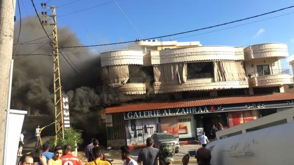 نيران هائلة وحالات اغماء جراء انفجار عشرات قوارير الغاز في كفرتبنيت