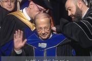 بالصور ... دكتوراه فخرية للرئيس عون