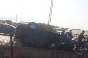 بالصور ... حادث سير مروع على طريق ببنين البيادر