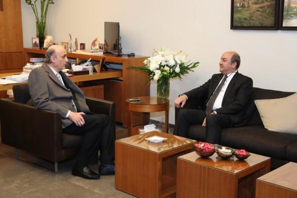 جعجع استقبل سفير تركيا الجديد