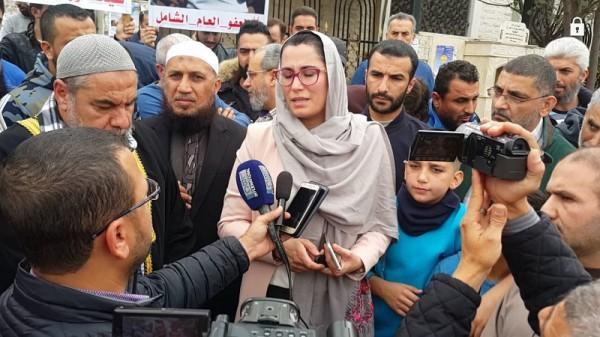 في سابقة ... موفدة من جنبلاط في اعتصام اهالي السجناء الإسلاميين في طرابلس