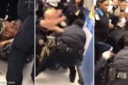 بالفيديو ... شرطة نيويورك تسحل وتصعق شابة لانتزاع رضيعها