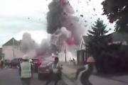 انفجار 'هائل' يهز مدينة أميركية.. وفيديو يرصد لحظة الرعب