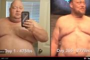 شاهد الفيديو 7 ملايين.. رجل يفقد 90 كيلوغراما من وزنه