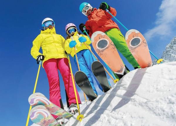 رحلة العائلة إلى الثلج