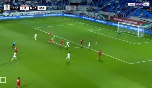 بالفيديو ... فوز السعودية على لبنان 2 - 0