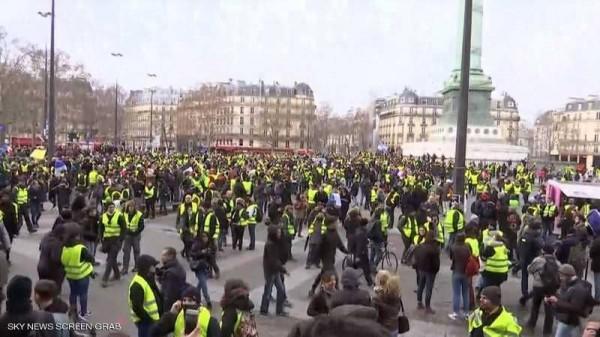 اعتقالات ومواجهات مع عودة 'السترات الصفراء' إلى باريس