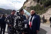 نهرا تفقد موقع انهيار حائط الدعم في حامات: لعدم سلوك الطريق الشمالي باتجاه بيروت إلا عند الضرورة