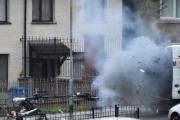انفجار قوي بعد دخول روبوت عربة متروكة بأيرلندا الشمالية