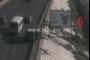 بالفيديو ... سيارة تتدهور على اوتوستراد الضبية باتجاه النقاش