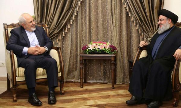 نصرالله خلال لقائه ظريف: المساندة الإيرانية صنعت 'الإنتصارات'!