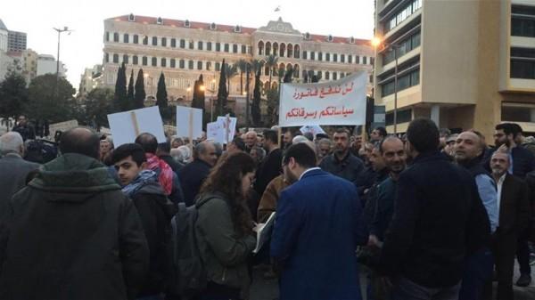 اعتصام في ساحة رياض الصلح: لا ثقة بهذه الحكومة