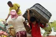 موجة نزوح بسبب قصف الحوثيين قرى في حجة