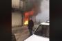بالفيديو ... حريق داخل مستودع للمفروشات في بئر العبد