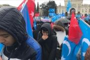 الإيغور يحتجون في أنقرة المدافعة عنهم لدى الصين