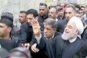 السيستاني يدعو أمام روحاني إلى الاعتدال واحترام دول الجوار
