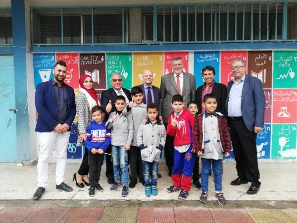 كوبيش زار وكوردوني مخيم عين الحلوة واكدا الدعم الدولي لضمان تلبية الاحتياجات الإنسانية للاجئين