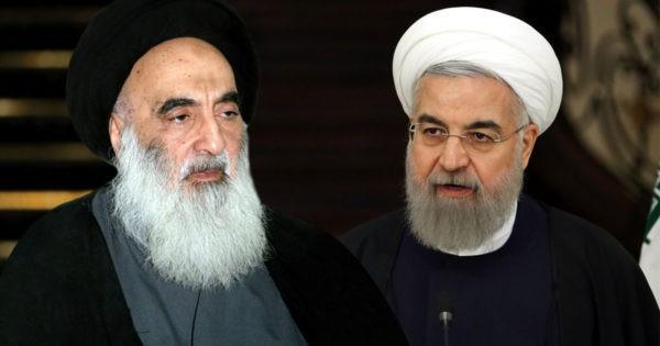 عندما يخاطب المرجع السيستاني الرئيس روحاني بشعارات 14 آذار