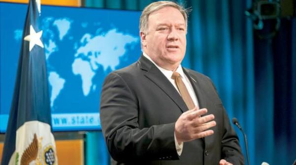 بومبيو: ندعم «التحالف» للتصدي لمحاولات إيران «نشر نظامها الفاسد»