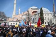 الآلاف يتظاهرون في إسطنبول احتجاجا على مذبحة نيوزيلندا