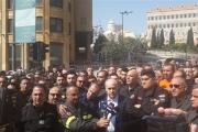 اعتصام لمتطوعي الدفاع المدني للمطالبة بتوقيع مرسوم تثبيتهم