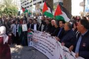 يتعرضون للتشويش وانتهاكات عديدة.. وقفة فلسطينية لمناصرة الأسرى