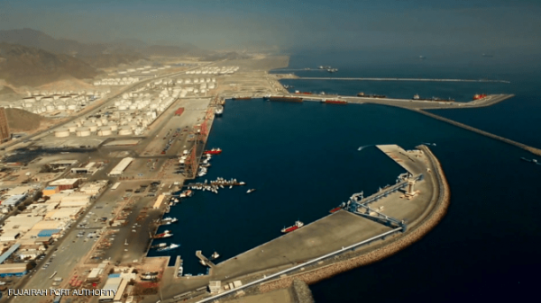 أول فيديو للسفينة السعودية التي تعرضت للهجوم في ميناء الفجيرة بالإمارات