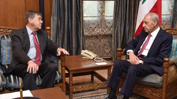 بري التقى نواب الاربعاء وساترفيلد: الاجواء إيجابية والموقف اللبناني الموحد يحفظ حقوقنا