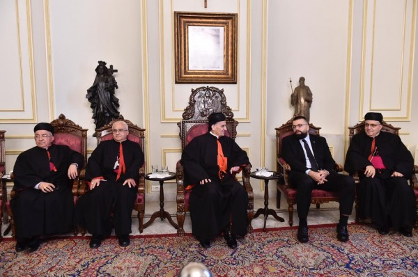 أحمد الحريري من بكركي: صفير بطريرك رسالة لبنان
