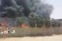 اندلاع حريق كبير في منطقة النقب بفعل البالونات الحارقة المنطلقة من قطاع غزة (يونيوز)