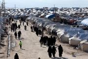 800 امرأة وطفل يغادرون مخيم الهول في سوريا