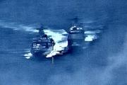 رعب الـ50 مترا.. أول فيديو للمواجهة الروسية-الأميركية بالبحر