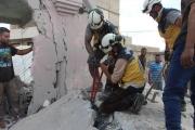 طيران النظام السوري يوقع مجزرة في معرشورين بريف إدلب