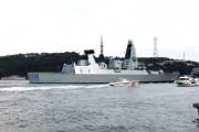 قارب إيراني مفخخ كاد يفجر مدمرة بريطانية