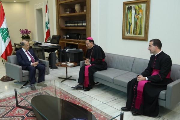 رئيس الجمهورية استقبل سفيري الفاتيكان والنروج والشدياق